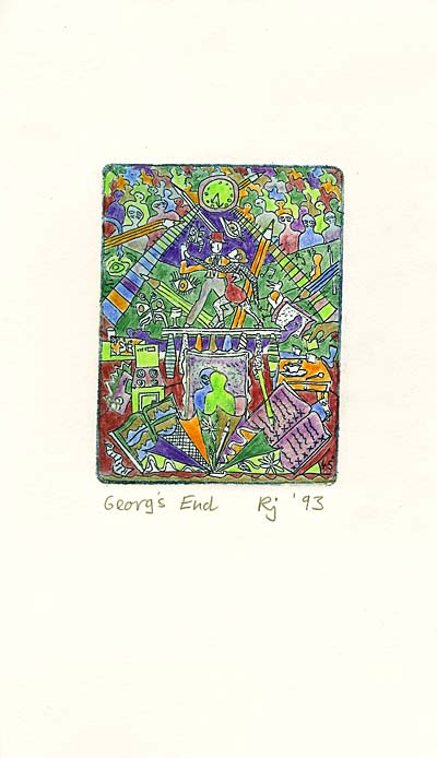 Coloured zinc etching – Georg's End Whole View